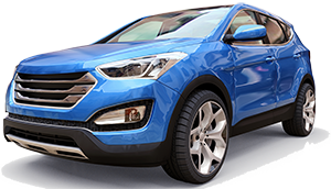 blue crossover vehicle